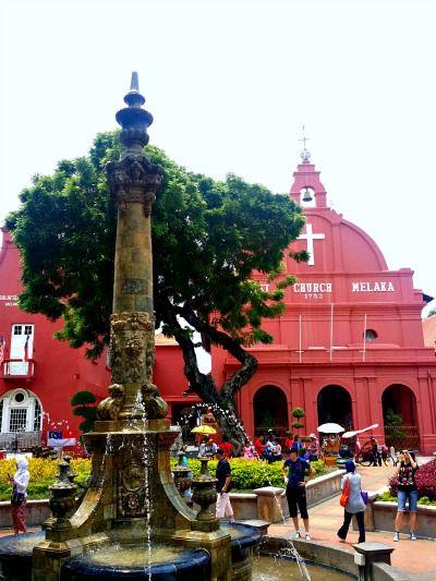 christ church queen victoria fountain melaka