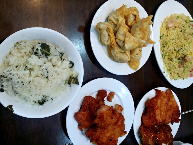delicious kitchen pork rib rice yeung chow fried wonton