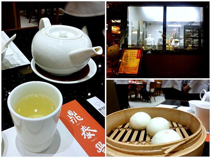 din tai fung kitchen tea red bean paste bun
