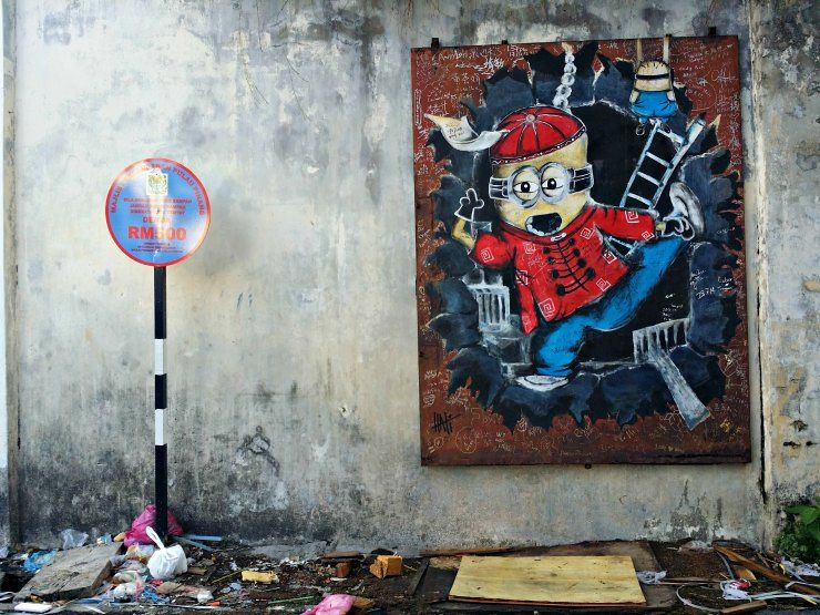 chinese minion george town penang street art