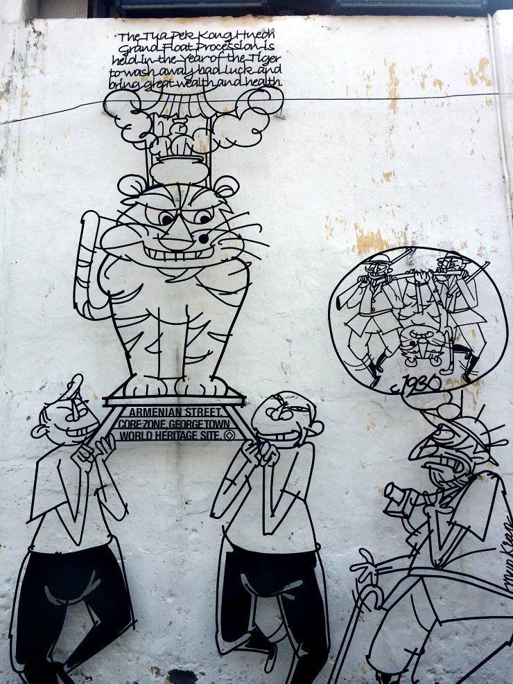 george town penang street art lebuh armenian