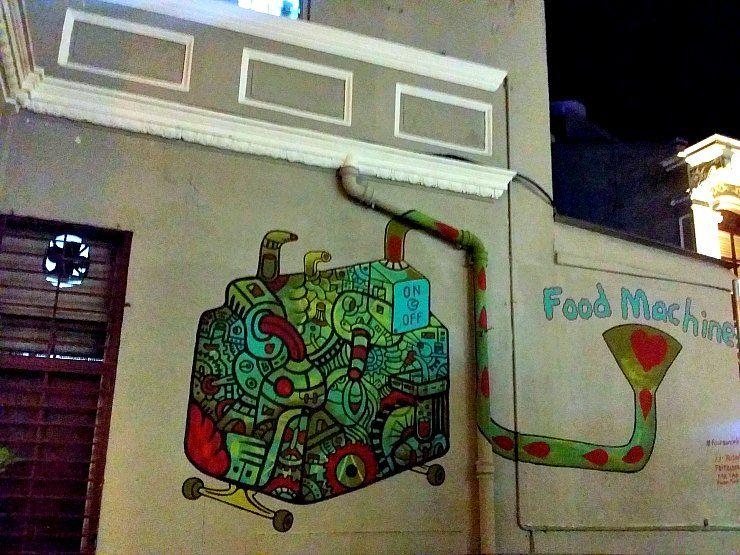 Fauzan Faud's food machine at Nagore road