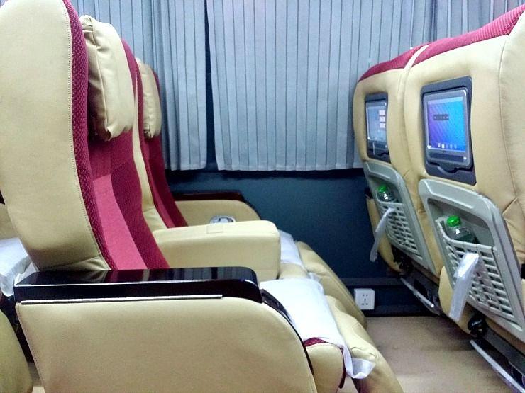 inside JJ Bus Myanmar