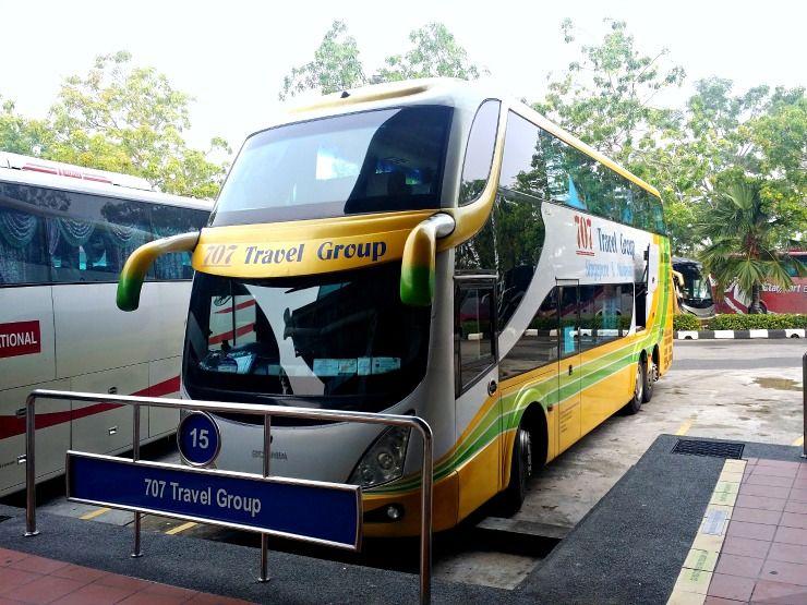 melaka to singapore bus