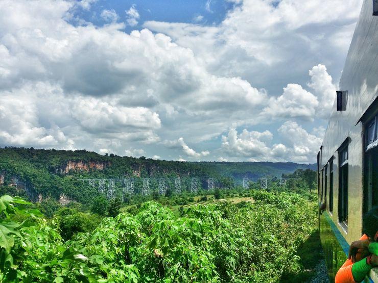 approaching gokteik viaduct