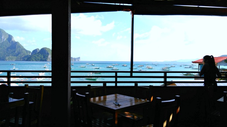 ocean vista inn rooftop restaurant overlooking el nido bay