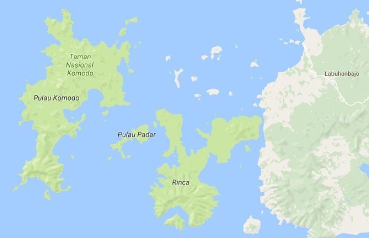 komodo national park map