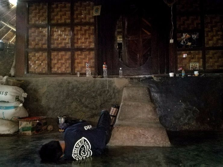 inside sasak sade house lombok indonesia