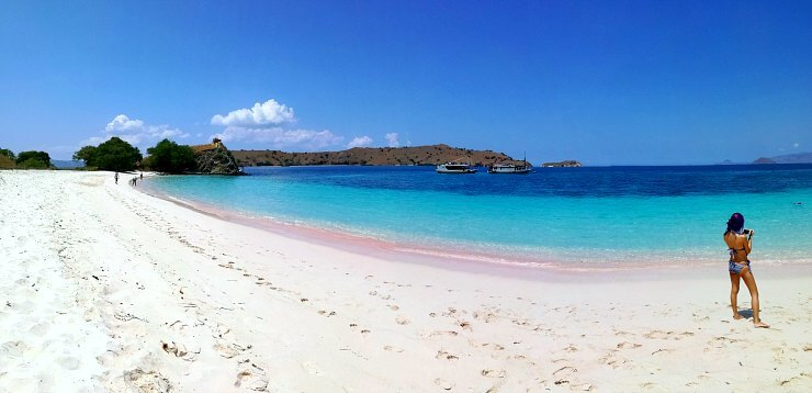 Komodo Island Pink Beach Indonesia panorama