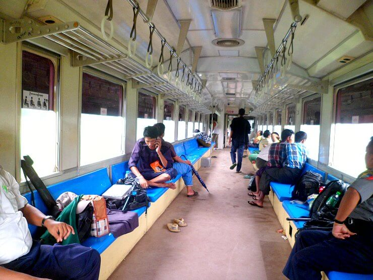 inside yangon circular train