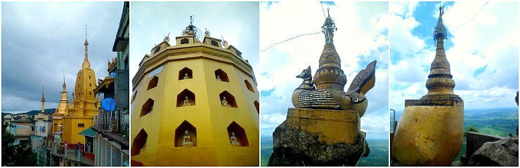 mount popa taungkalat temple bagan