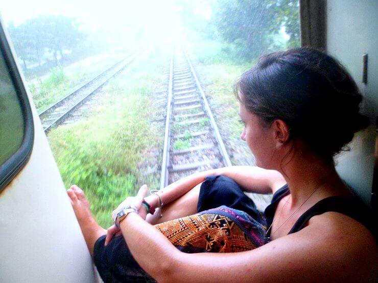 on the edge of yangon circular train