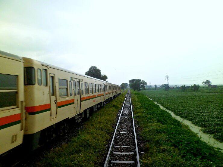 yangon circular train rainy day