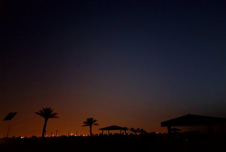 al wakrah family beach at night qatar