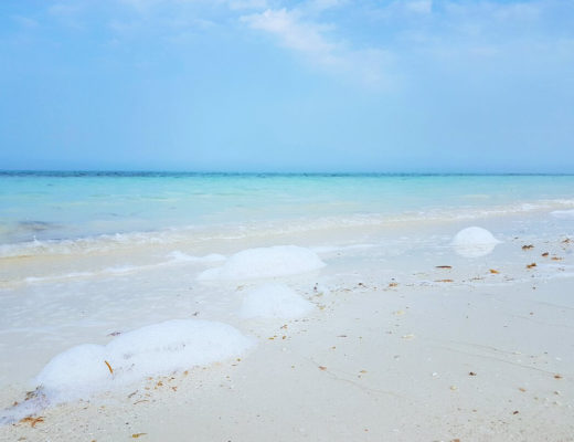 fuwairit beach qatar sea foam