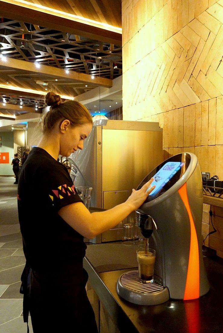 Nandos Qatar soda dispenser