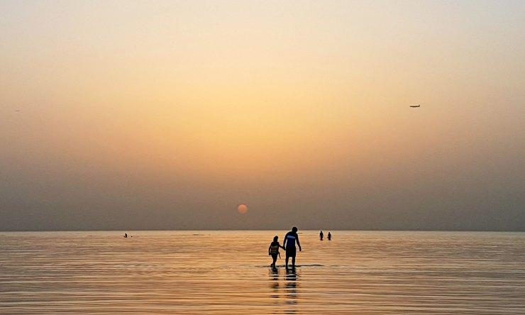 sunrise in al wakrah family beach qatar