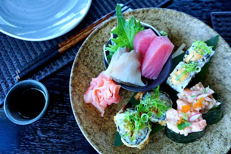 zengo doha sushi selection omakase lunch