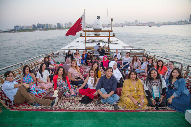 bloggers cruise doha dhow cruise