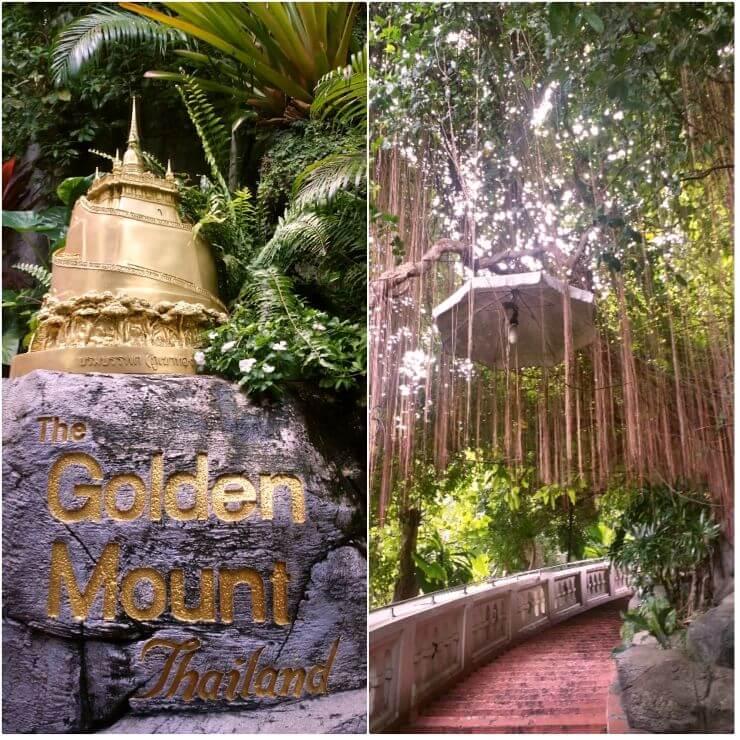 golden mount bangkok thailand entrance stairs