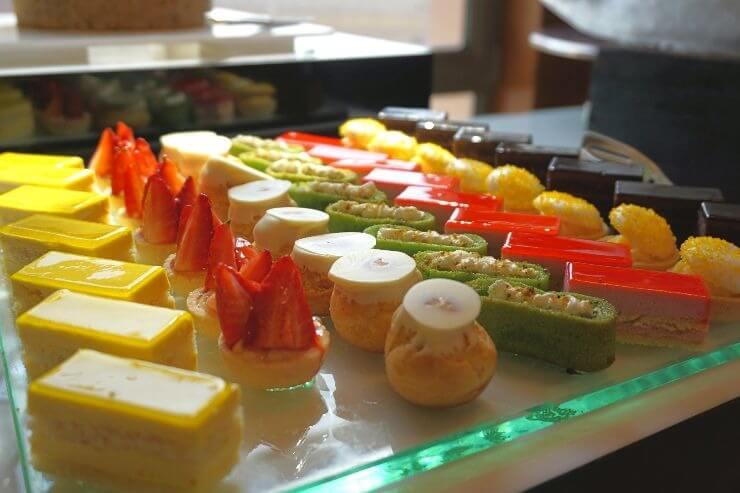 st regis doha grand brunch assorted pastries