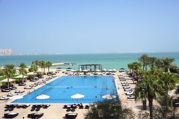 st regis doha pool beach