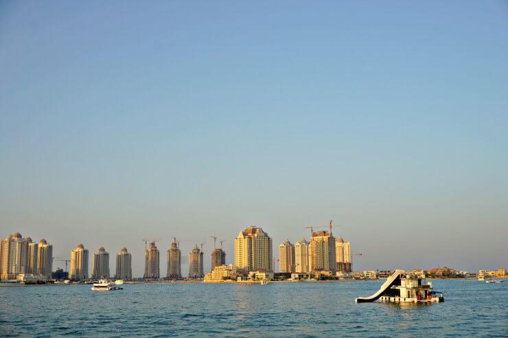 the pearl doha qatar sunset cruise