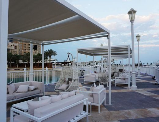 cabanas and pavilions of the pier four seasons doha