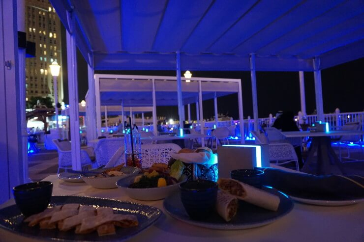 the pier four seasons doha hot and cold mezze mains