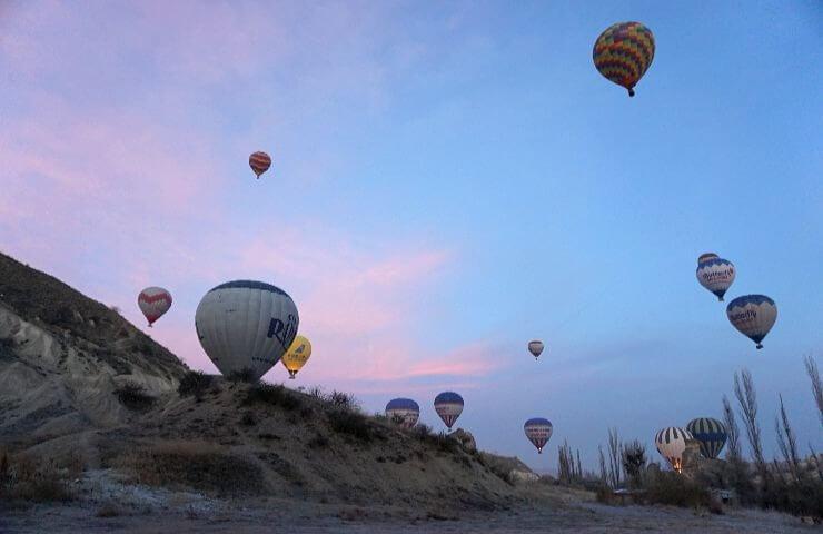 cappadocia hot air balloon ride december