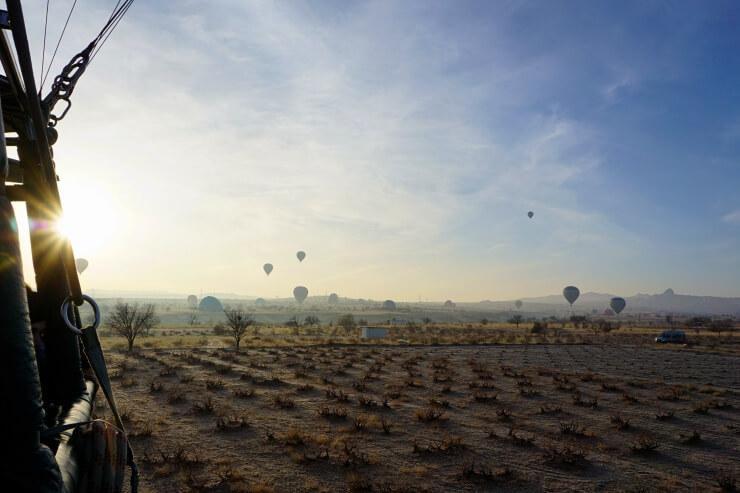 cappadocia hot air balloon ride landing