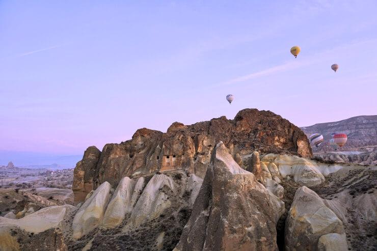 turkey cappadocia hot air balloon ride winter