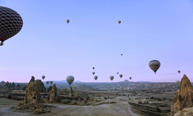 turkey hot air balloon ride cappadocia december winter