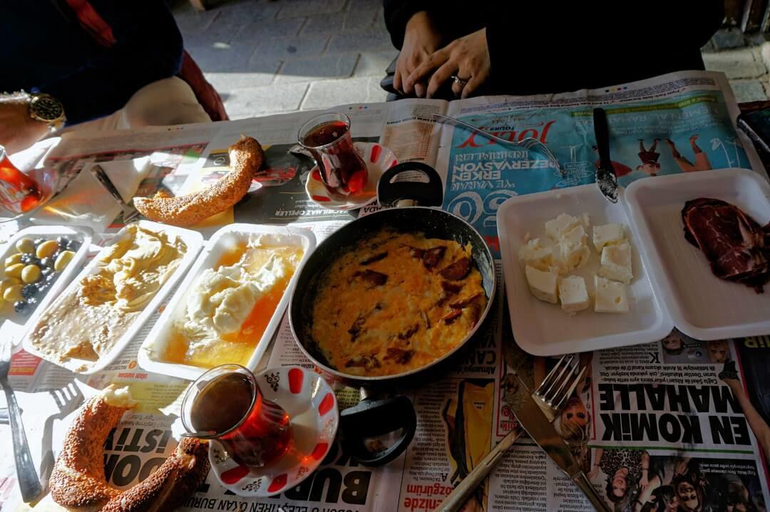 typical turkish breakfast kahvalti istanbul food tour