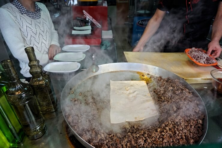 making tantuni in kadikoy istanbul