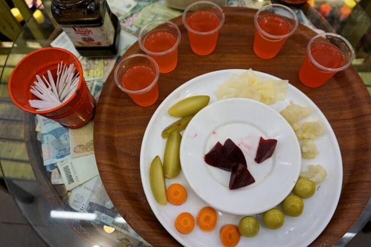 pickle juice pickled vegetables meshur ozcan tursulari kadikoy