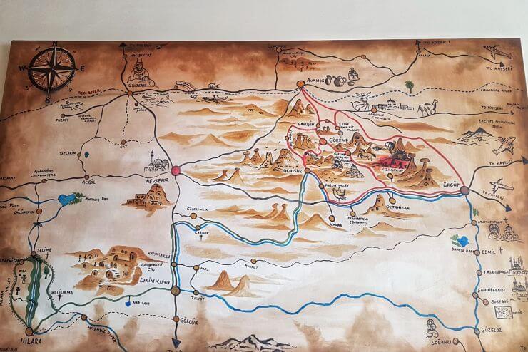2 Days in Cappadocia, Turkey: Ultimate Travel Guide [plus ... Cappadocia Map on ardahan map, ankara map, dolmabahce palace map, pamukkale map, carpathian mountains map, anatolia map, turkey map, tatev monastery map, kayseri map, lycian sea map, macedonia map, bitlis map, nevsehir pazar map, cilicia map, underground city, mount nemrut, campania map, pontus map, troy map, goreme map, mount ararat, derinkuyu underground city, phthia map, ephesus map,